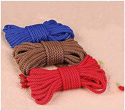 Cuerda de algodón suave retorcida de 10 m (32 pies) (Color al azar ...