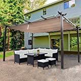 Outsunny 10' x 13' Aluminum Retractable Pergola