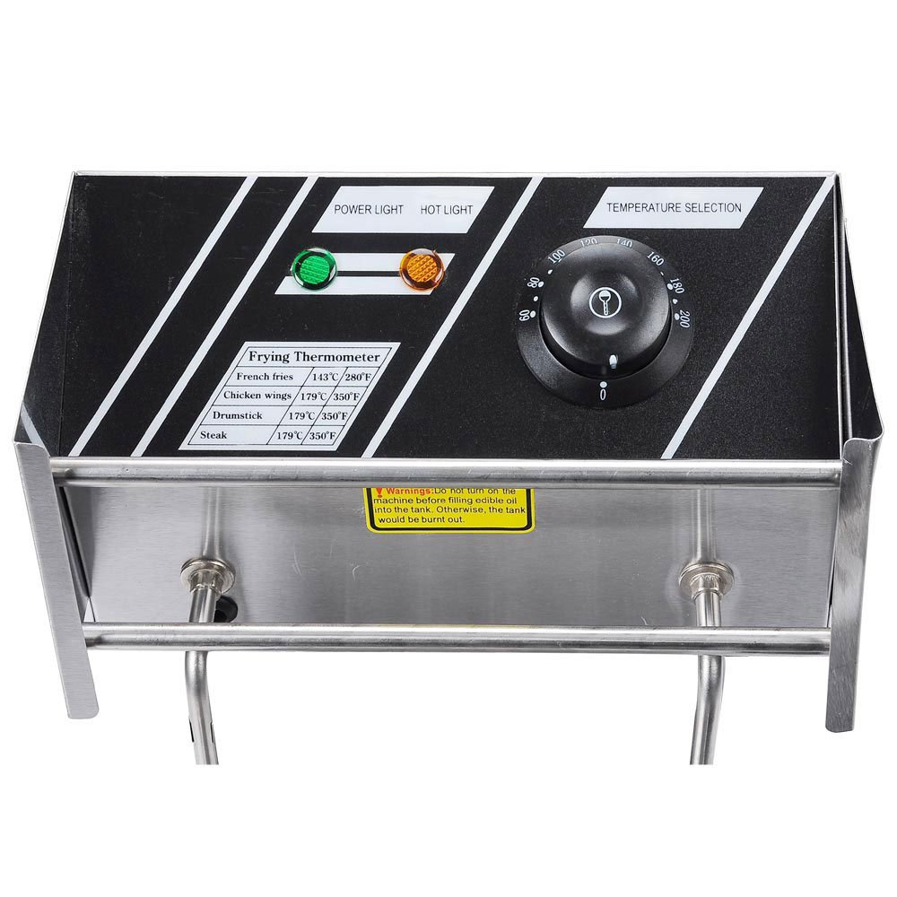 Generic 5000W 12 Liter Electric Countertop Deep Fryer Dual Tank 6 Commercial Restaurant by Generic (Image #3)