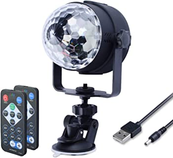WOWTOU RGB LED Disco Strobe Light with Remote Control