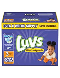 Luvs Ultra Leakguards Diapers, Size 3, 312 Count BOBEBE Online Baby Store From New York to Miami and Los Angeles