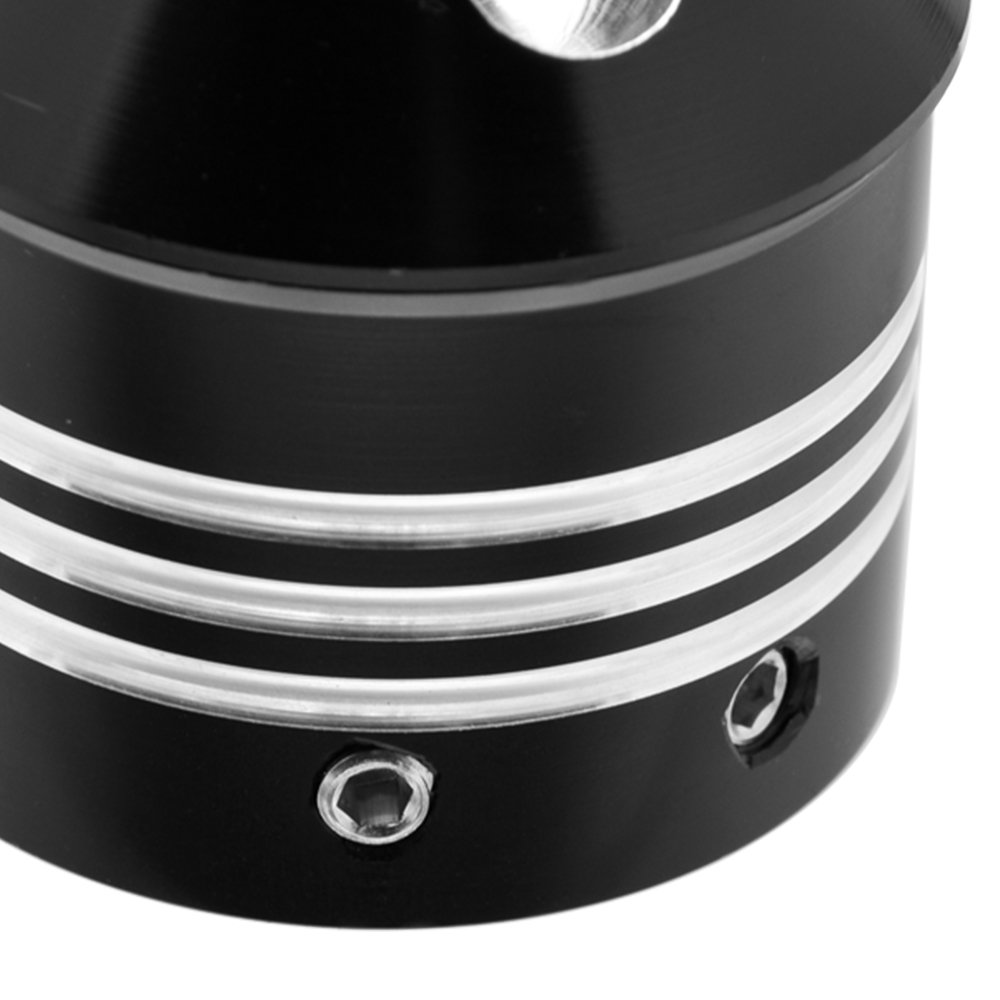 Amazicha Black Spike Front Axle Nut Covers Cap for Harley Touring