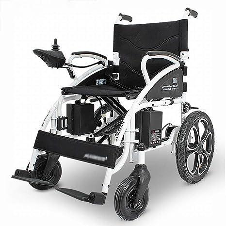 JL-Q Silla de Ruedas eléctrica discapacitados Silla de Ruedas Plegable portátil Multifuncional Inteligente Silla de Ruedas Viejo Scooter: Amazon.es: Hogar