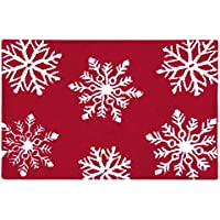 C&F Home Hooked Winter Snowflakes Rug, White