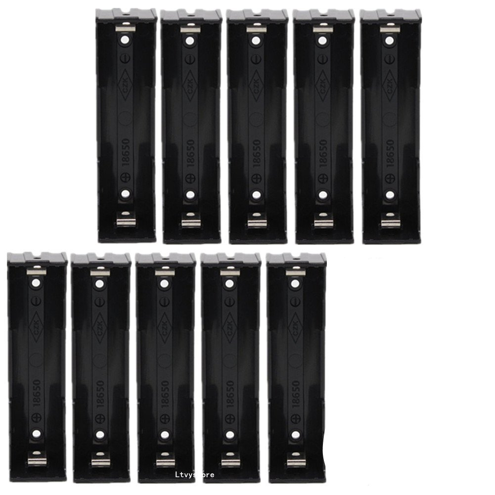 Amazon.com: 18650 soporte de carcasa de batería, 10 pcs 1 ...