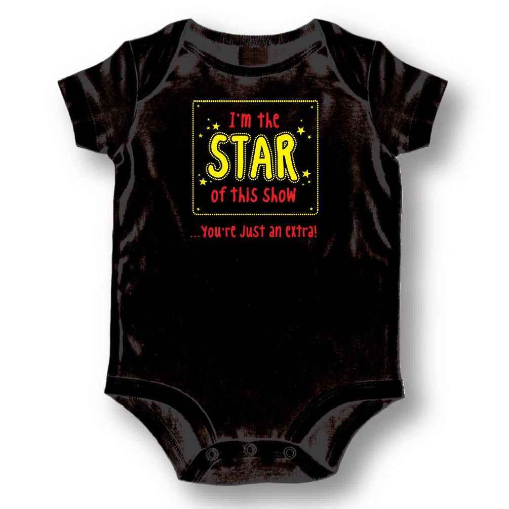 Dustin clothing series I'm The Star Of This Show You're An Extra Baby Boys Girls Toddlers Romper 0-24M