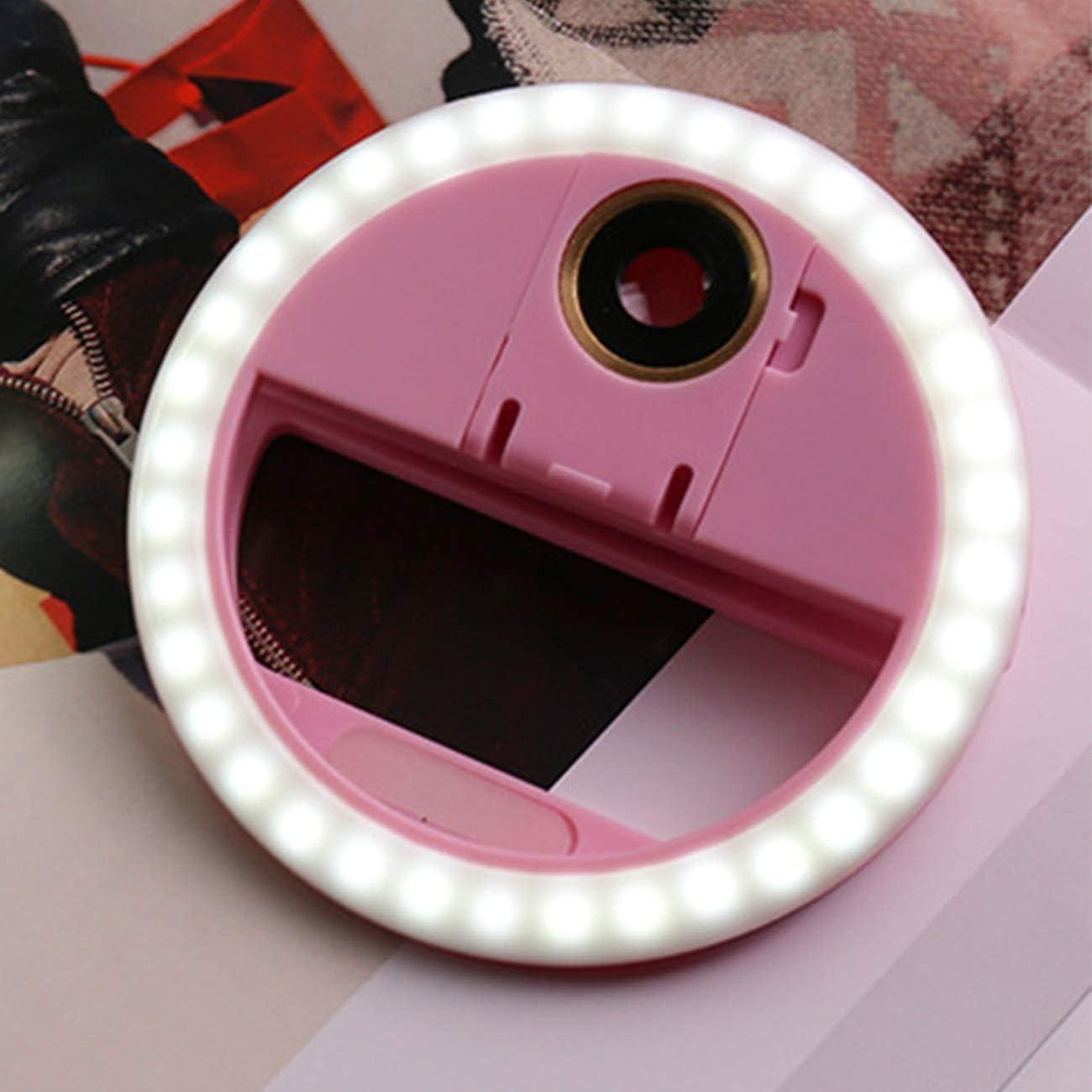 Tiktok luz LED USB Recargable Selfie Light Clip en Tel/éfono con Ajuste Continuo de 3 Modos de luz para Youtube Maquillaje Vlog Aro de luz led para Selfie con Lente Facebook,Transmisi/ón en Vivo