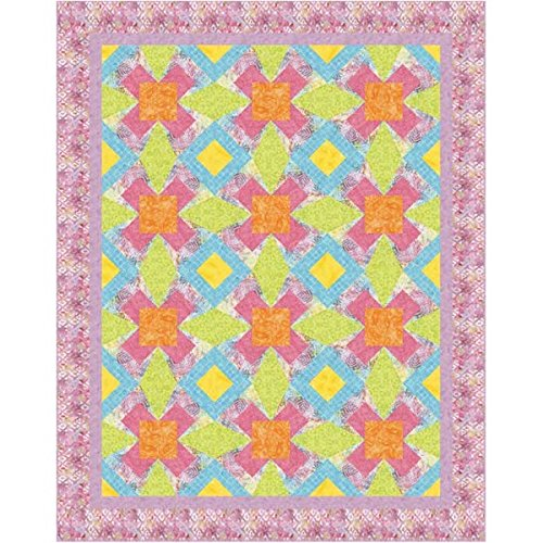 Cotton Candy Quilt Shop (Timless Treasures Candy Shop Sugar Crossing Quilt Kit 68 x 86)