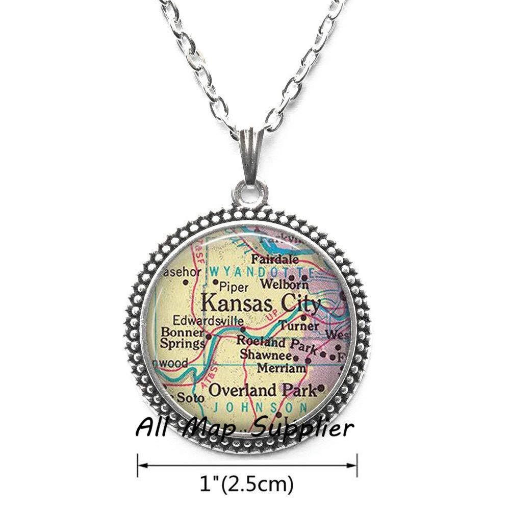 Amazon com : AllMapsupplier Fashion Necklace Kansas City