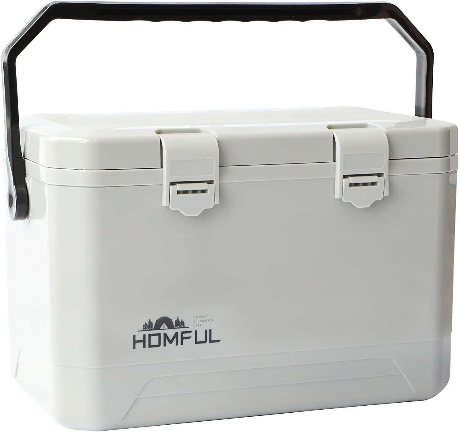 HOMFUL Cooler,18-Quart Small Cooler Lunch Box,Portable Mini Cooler Ice Chest Ideal for Camping,Fishing,Barbecues-Gray