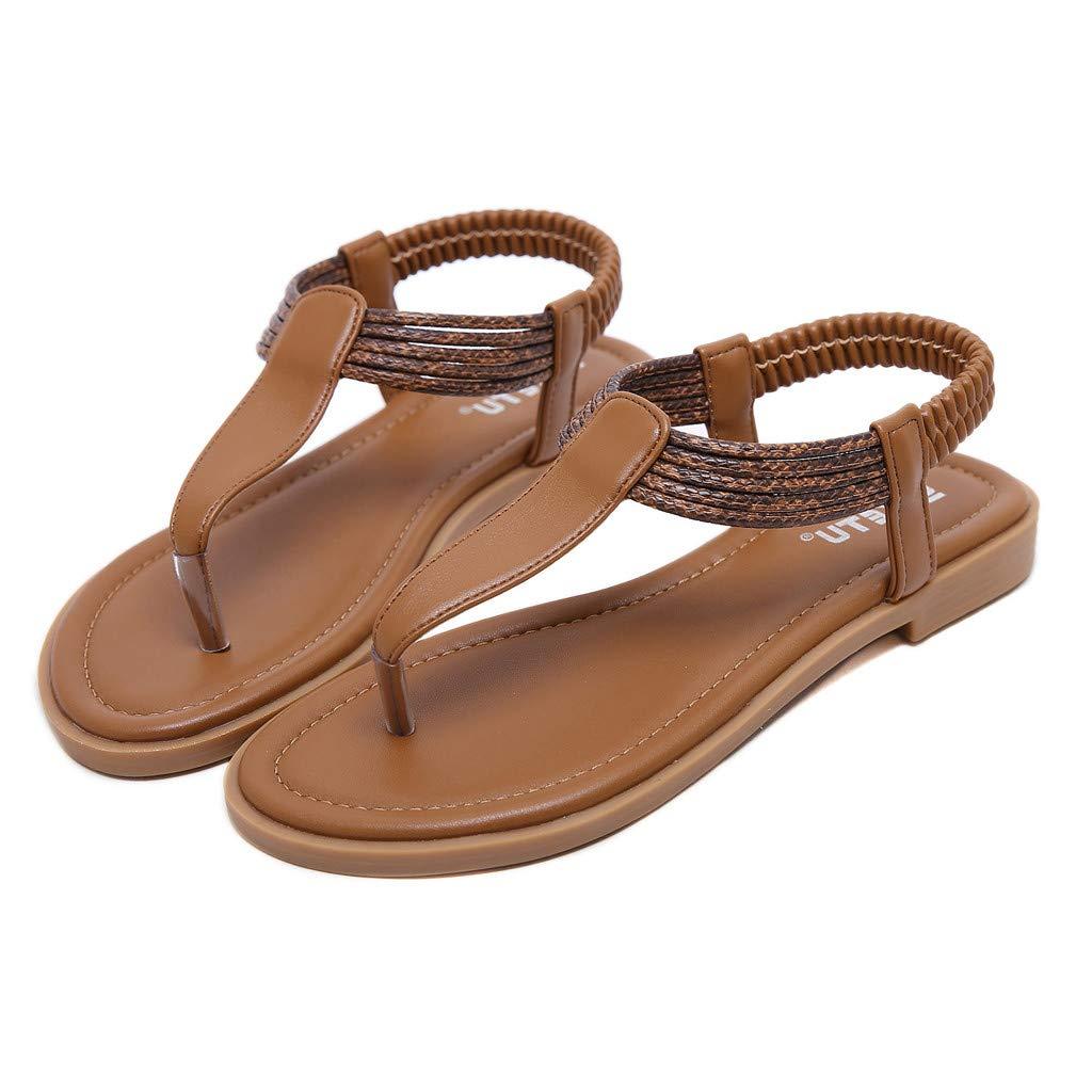 CSSD Women Sandals SKIRT レディース B07NCF347X ブラウン 6