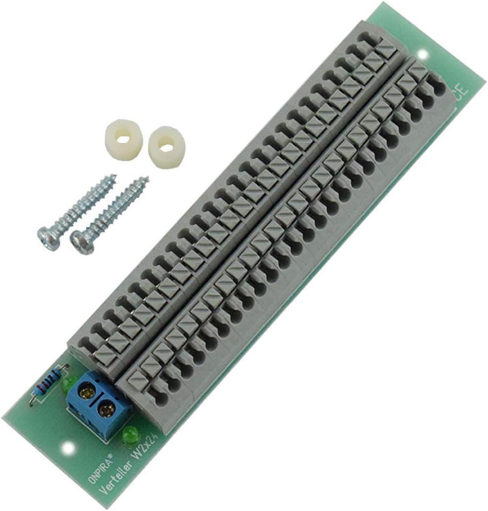 W2x24 Stromverteiler Verteiler Platine 8a Belastbar Modellbau Gleich Und Wechselstrom Baumarkt