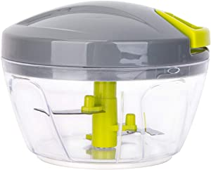 Re.cook Hand Powered Food Chopper, Easy Pull Manual Food Processor, Vegetable Slicer and Dicer, 450ml