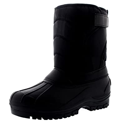 Womens Muck Nylon Strap Outdoor Winter Waterproof Snow Rain Mid Calf Boots