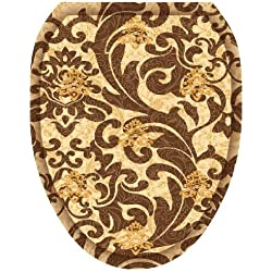 Toilet Tattoos TT-1114-O Tuscany Filigree Decorative Applique for Elongated Toilet Lid by Toilet Tattoos