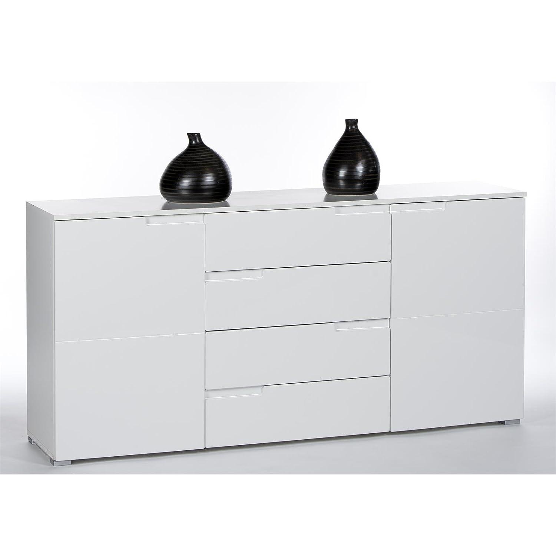 Faszinierend Kommode Weiß Hochglanz Günstig Beste Wahl Caro-möbel Sideboard Anrichte Mona, 2 Türen Und