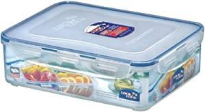 LOCK & LOCK Rectangular Food Container with Divider, Short, 16.2-Cup, 131-Fluid Ounces
