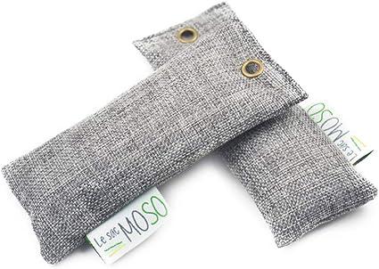 Le Sac MOSO – Ambientador para zapatos, purificador de aire, desecante, natural y sin olor, carbón de bambú, versión zapatos 50 g, paquete de 2: Amazon.es: Hogar