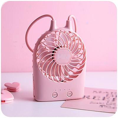 KWXHG Le joli dessin animé mini USB portable ventilateurs électriques rechargeables petit bagage à hostel lit est petit, B