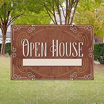 Victorian Card Double-Sided Weather-Resistant Yard Sign CGSignLab 5-Pack 27x18 Open House