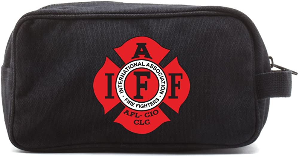 IAFF International Association of Fire Fighters Logo Kit Travel Toiletry Bag