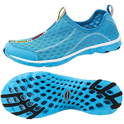 Blue on Mesh ALEADER Water Mens Shoes ALEADER Slip Mens nxCnH8wqpX