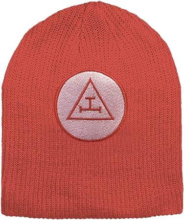 Royal Arch Masonic Beanie Cap Red Winter Hat Triple Tau Royal Arch Freemasons