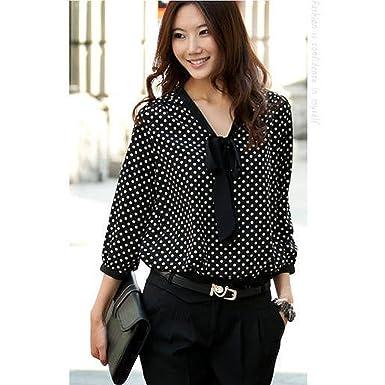 Blusa Hombre Yesmile Camiseta Camisa de Gasa de Manga Larga con Cuello en V para Mujer Blusa de Punto con Cuello en V Informal: Amazon.es: Ropa y accesorios