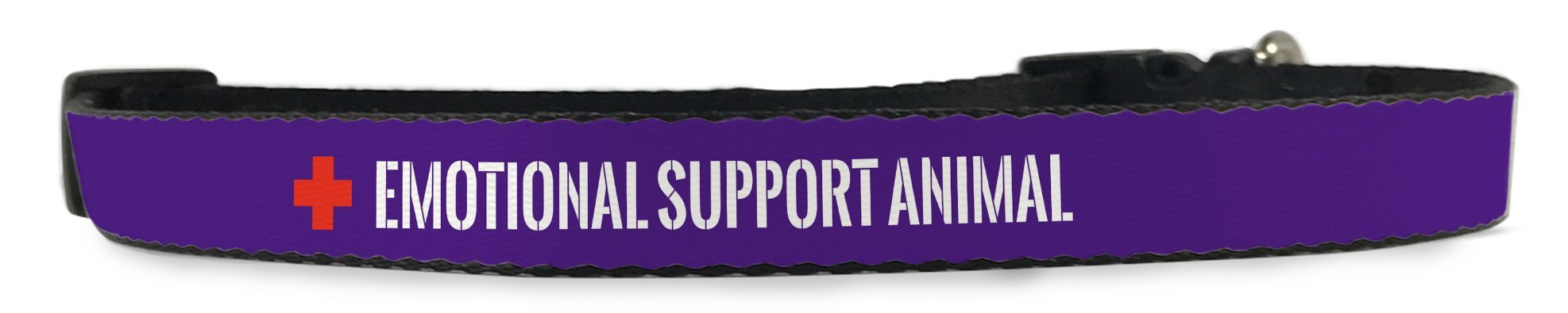 Emotional Support Animal (ESA) Dog Adjustable Dog Collar for Pet (Small to Medium Dogs 12'-16' inch) (Purple)