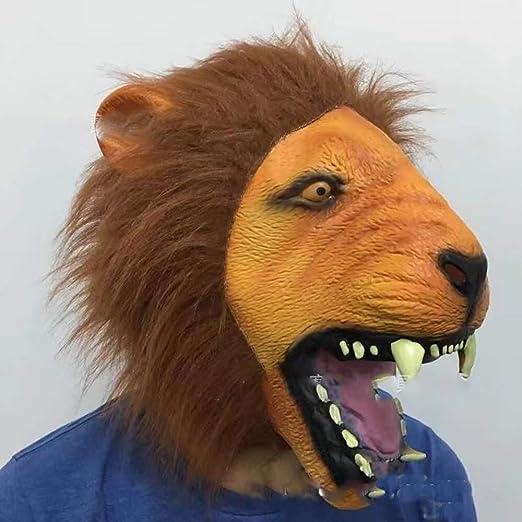 NA Accesorios de Halloween Adulto Máscaras de cabeza de león ...