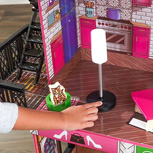61YZDLGcM5L - KidKraft So Chic Dollhouse with Furniture