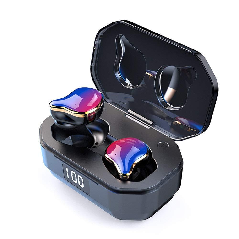 ワイヤレスイヤホン最新のブルートゥース5.0防音軽量ミニインイヤーヘッドフォン3Dステレオサウンド汗防止スポーツイヤホンヘッドセット内蔵マイク通話用 (色 : D3, サイズ : Free) B07RSYMTYG D3 Free