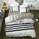 ORoa Striped Twin Duvet Cover Sets Multi Color 3 Piece Bedding Set for Teens with 2 Pillow Shams (Twin, Style 3) 