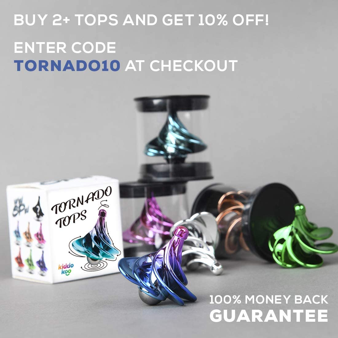 Spinning Top Great Party Favors or Office Decor A New take on Spin Top Toy and Adult Fidget Decompression Spinner Toys The Original Tornado Tops Wind Gyro Based Spinning Tops for Kids and Adults