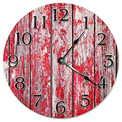 RED BARN WOOD Clock - Large 10.5 Wall Clock - 2267