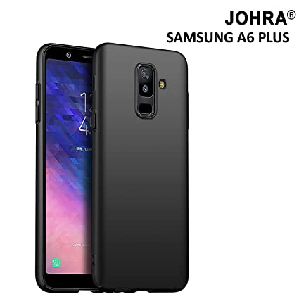 timeless design bb0e2 20233 Johra 320 4 Cut All Sides Protection Sleek iPaky Plastic Hard Back Cover  for Samsung Galaxy A6 Plus (Black)