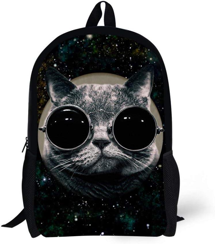 CODOYO Mochila, Cool Cat Print Engraçado Cute Mochila Negra para la Escuela Mochila Informal para Viajes Mochila clássica Elegante y Duradera