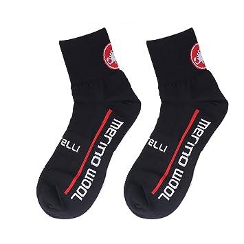 Ciclismo calcetines absorber el sudor, desodorante, anti fricción, transpirable de compresión calcetines para Trail Running y ciclismo, Negro: Amazon.es: ...