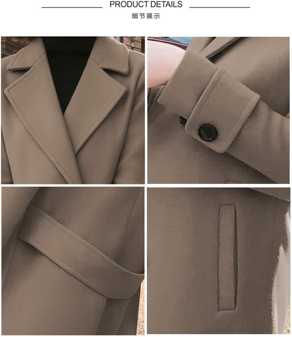 FSDFASS Manteau Manteau Printemps Automne, Femme Streetwear Jacket- Femme Manteaux Coréens et Vestes- Outwear pour Femmes Chocolat