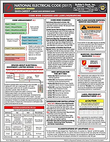 2017 National Electrical Code (NEC) Significant Changes Quick-Card ...