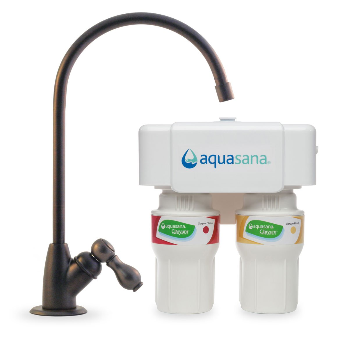Aquasana 2-Stage Under Sink Water Filter System with Oil-Rubbed Bronze Faucet by Aquasana