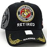 United States Marine Corps Retired Black Baseball Cap