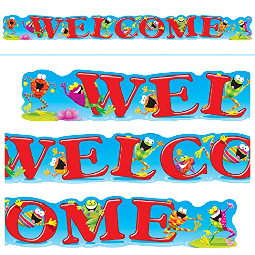 TREND enterprises, Inc. T-25049 Welcome Frog-Tastic! Quotable Expressions Banner, 10