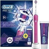 Braun Oral-B PRO 750 Elektrische Zahnbürste 3D-White mit Zahnpasta