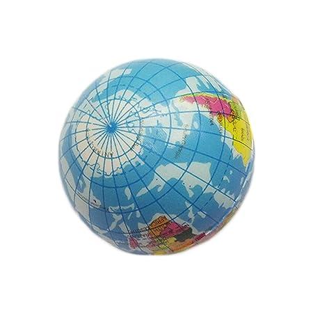 dryujdytru 1pcCreative Mapa del Mundo Tierra Globo Bola de Esponja ...