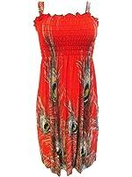Hot Trendz Women's Summer Butterfly Print Beach Casual Sundress