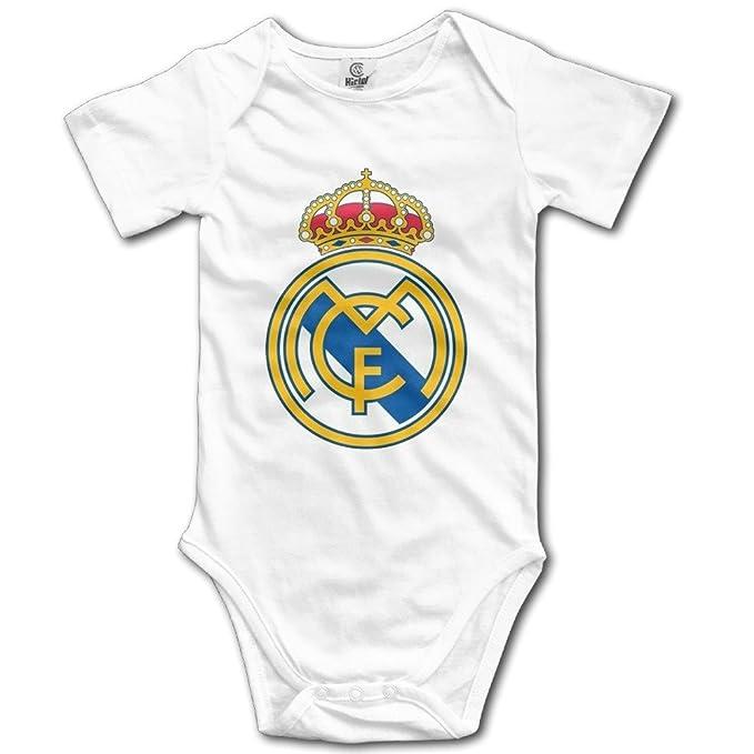 Recién Nacido Ropa Club de fútbol Real Madrid Basic Logo Cool bebé Trajes Onesies - Negro -: Amazon.es: Ropa y accesorios