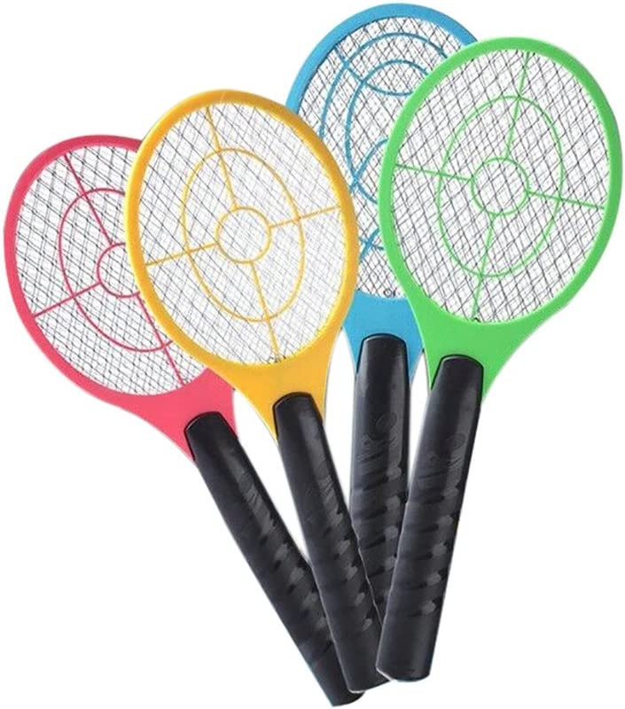 OHOME Electric Fly Swatter Racket USB Rechargeable Fly Mosquito Swatter Tennis Bat Handheld Racket Mesh Swatter Bug Wasp Swatter Free Size, Random