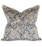 Howard Elliot 3-575F 24 x 24 in. Davida Kay Savile Indigo Pillows - Down Insert