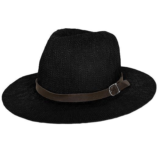 f8617c6cf5e Women s Vintage Classic Derby Panama Hat Floppy Wide Brim Summer ...